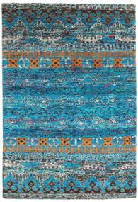 Quito - ターコイズ 絨毯 160X230 モダン 手織り ターコイズブルー/濃いグレー (絹, インド)