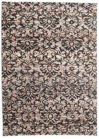 Reina 絨毯 160X230 モダン 手織り 薄い灰色/濃い茶色 (絹, インド)