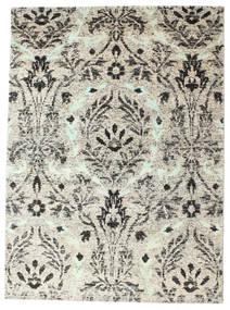 Lennox 絨毯 140X200 モダン 手織り 薄い灰色/濃いグレー (絹, インド)