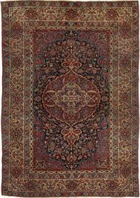 イスファハン アンティーク 絨毯 147X215 オリエンタル 手織り 深紅色の/濃い茶色 (ウール, ペルシャ/イラン)