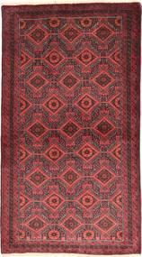 バルーチ 絨毯 105X186 オリエンタル 手織り 深紅色の/錆色 (ウール, ペルシャ/イラン)