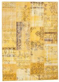 パッチワーク 絨毯 162X227 モダン 手織り 黄色/薄茶色 (ウール, トルコ)