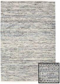 Pebbles - グレー/青 Mix 絨毯 140X200 モダン 手織り 薄い灰色/暗めのベージュ色の ( インド)