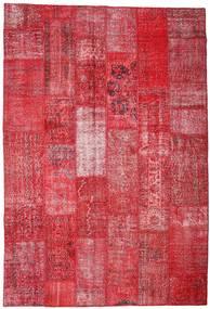 パッチワーク 絨毯 201X296 モダン 手織り 赤/錆色 (ウール, トルコ)