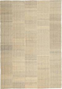 キリム モダン 絨毯 205X301 モダン 手織り 薄い灰色/暗めのベージュ色の/ベージュ (ウール, ペルシャ/イラン)