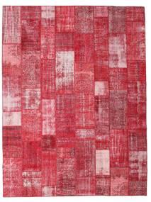 パッチワーク 絨毯 303X402 モダン 手織り 赤/錆色/ピンク 大きな (ウール, トルコ)