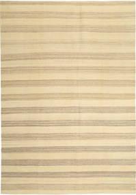 キリム モダン 絨毯 204X305 モダン 手織り ベージュ/暗めのベージュ色の (ウール, ペルシャ/イラン)