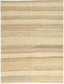 キリム モダン 絨毯 154X204 モダン 手織り ベージュ/暗めのベージュ色の (ウール, ペルシャ/イラン)