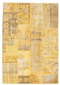 パッチワーク 絨毯 140X202 モダン 手織り 暗めのベージュ色の/黄色 (ウール, トルコ)