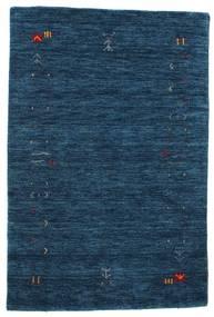 ギャッベ ルーム Frame - 紺色の 絨毯 100X160 モダン 紺色の (ウール, インド)