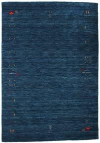 ギャッベ ルーム Frame - 紺色の 絨毯 140X200 モダン 紺色の (ウール, インド)