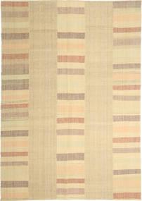 キリム モダン 絨毯 208X304 モダン 手織り ベージュ/薄茶色 (ウール, ペルシャ/イラン)