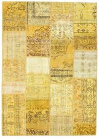 パッチワーク 絨毯 160X231 モダン 手織り 黄色/暗めのベージュ色の (ウール, トルコ)