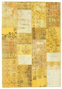 パッチワーク 絨毯 161X233 モダン 手織り 黄色/ベージュ (ウール, トルコ)