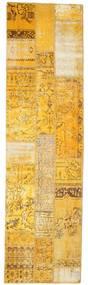パッチワーク 絨毯 81X299 モダン 手織り 廊下 カーペット 薄茶色/黄色 (ウール, トルコ)