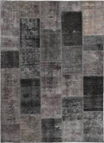 パッチワーク 絨毯 165X237 モダン 手織り 濃いグレー/茶 (ウール, ペルシャ/イラン)