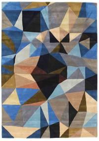 Volcano Rug 絨毯 160X230 モダン 黒/薄い灰色 (ウール, インド)