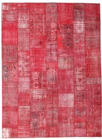 パッチワーク 絨毯 254X349 モダン 手織り 赤/錆色/ピンク 大きな (ウール, トルコ)