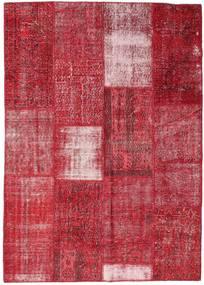 パッチワーク 絨毯 160X226 モダン 手織り 赤/錆色 (ウール, トルコ)