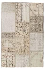 パッチワーク 絨毯 122X185 モダン 手織り 薄い灰色/ホワイト/クリーム色 (ウール, トルコ)