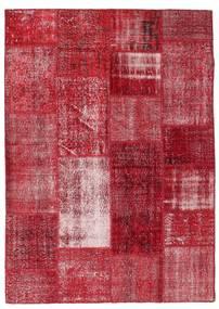 パッチワーク 絨毯 163X229 モダン 手織り 赤/深紅色の (ウール, トルコ)
