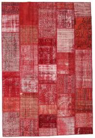 パッチワーク 絨毯 201X299 モダン 手織り 赤/ピンク (ウール, トルコ)