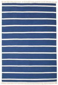 ドリ Stripe - 紺色の 絨毯 160X230 モダン 手織り 紺色の/青 (ウール, インド)