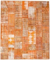 パッチワーク 絨毯 253X304 モダン 手織り 薄茶色/オレンジ 大きな (ウール, トルコ)
