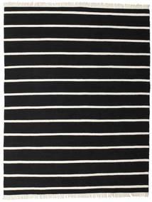 ドリ Stripe - 黒/白 絨毯 200X250 モダン 手織り 黒 (ウール, インド)
