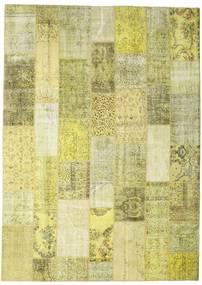 パッチワーク 絨毯 252X352 モダン 手織り 黄色/ライトグリーン 大きな (ウール, トルコ)