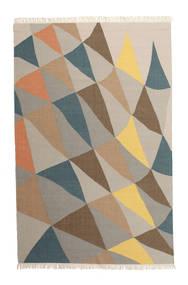 Fly 絨毯 200X300 モダン 手織り 薄い灰色/濃いグレー (ウール, インド)