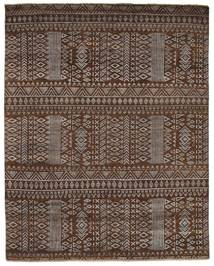 Damask 絨毯 243X305 モダン 手織り 濃い茶色/茶 ( インド)