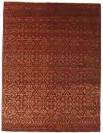 Damask 絨毯 242X317 モダン 手織り 深紅色の/濃い茶色 ( インド)