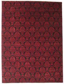 Damask 絨毯 274X365 モダン 手織り 深紅色の/濃い茶色 大きな ( インド)