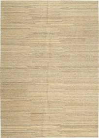 キリム モダン 絨毯 207X291 モダン 手織り 暗めのベージュ色の/ベージュ (ウール, ペルシャ/イラン)