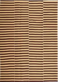 キリム モダン 絨毯 221X318 モダン 手織り 濃い茶色/薄茶色 (綿, ペルシャ/イラン)