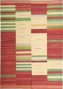 キリム モダン 絨毯 221X315 モダン 手織り 深紅色の/ベージュ (ウール, ペルシャ/イラン)