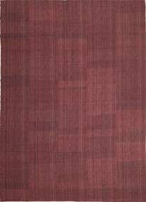 キリム モダン 絨毯 212X295 モダン 手織り 濃い紫/紫 (ウール, ペルシャ/イラン)