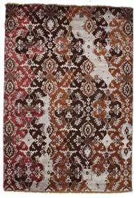 Damask 絨毯 122X179 モダン 手織り 深紅色の/ピンク ( インド)