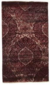 Damask 絨毯 100X169 モダン 手織り 深紅色の/濃い茶色 ( インド)