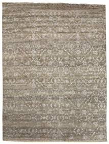 Damask 絨毯 232X308 モダン 手織り 薄い灰色/薄茶色 ( インド)