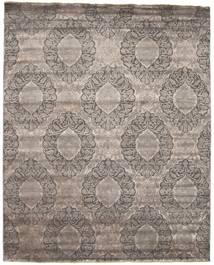 Damask 絨毯 235X310 モダン 手織り 薄い灰色/濃いグレー ( インド)