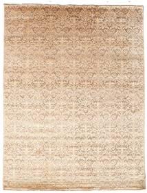 Damask 絨毯 226X298 モダン 手織り ベージュ/暗めのベージュ色の ( インド)