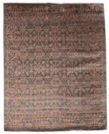 Damask 絨毯 232X292 モダン 手織り 濃い茶色/茶 ( インド)