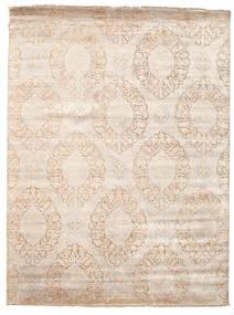 Damask 絨毯 230X307 モダン 手織り ベージュ/薄い灰色 ( インド)