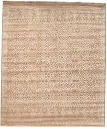 Damask 絨毯 253X305 モダン 手織り 薄茶色/茶 大きな ( インド)