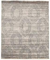 Damask 絨毯 256X310 モダン 手織り 薄い灰色 大きな ( インド)