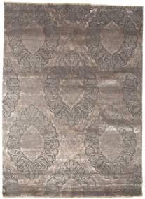 Damask 絨毯 176X243 モダン 手織り 薄い灰色/濃いグレー ( インド)