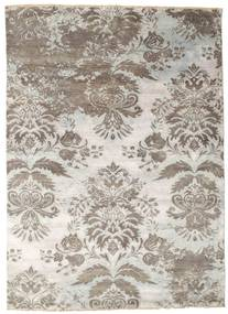 Damask 絨毯 176X245 モダン 手織り 薄い灰色/ベージュ ( インド)
