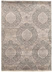 Damask 絨毯 175X240 モダン 手織り 薄い灰色 ( インド)